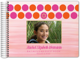 Bright Colorful Dots Bat Mitzvah Guest Book