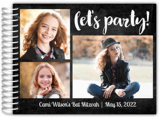 Let's Party Chalkboard Bat Mitzvah Guest Book