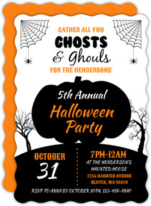 Ghosts and Ghouls Halloween Party Invitation