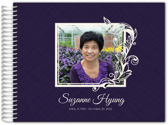 Simple Square Frame Funeral Guest Book