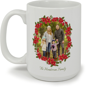 Poinsettia Custom Photo Coffee Mug