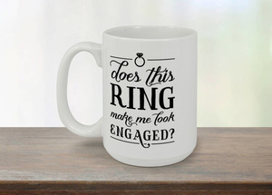 Engagement Ring Coffee Mug