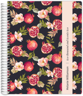 Pomegranate and Floral Student Planner