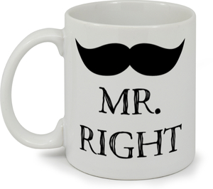 Black Mustache Mr. Coffee Mug