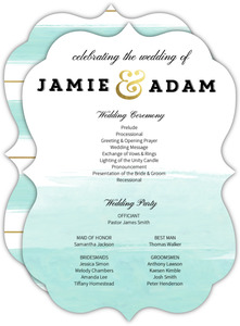 Modern Dip Dyed Watercolor Wedding Program