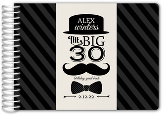 Bowler Hats and Mustaches Birthday Guest Book