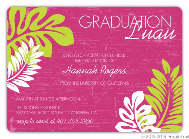 Pink luau graduation invitation graduation invitations pink luau graduation invitation filmwisefo Images