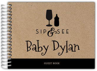 Bottle Icons Sip and See Baby Guest Book