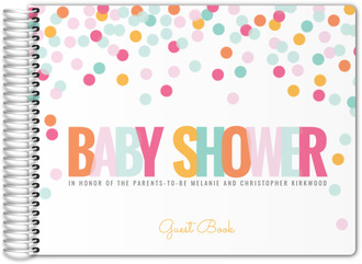 Colorful Confetti Baby Shower Guest Book