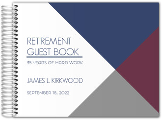 Modern Lines Retirement Guest Book