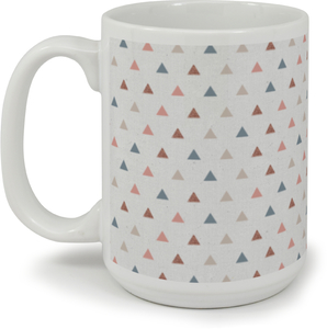 Muted Triangle Pattern Coffee Mug