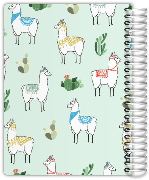 Decorative Llama Pattern Mom Planner
