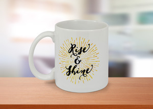 Rise And Shine Sun Burst Coffee Mug