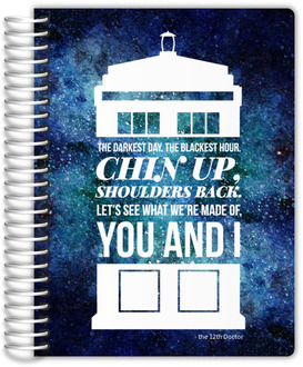 Galaxy Telephone Box Quote Daily Planner