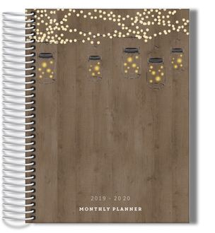 Rustic String Lights Monthly Planner