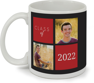 Gray and Red Graduation Mug