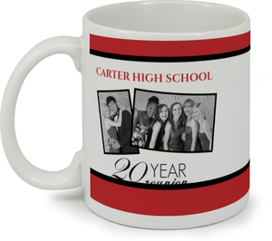 Classic Red And White 20 Year Coffee Mug