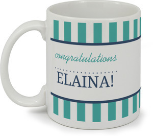 Modern Stripes Navy And Turquoise Coffee Mug