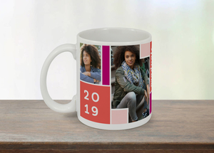Color Block Graduation Mug