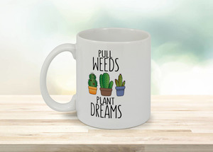 Plant Dreams Cactus Custom Mug