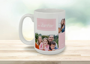 Family Together Collage Photo Mug
