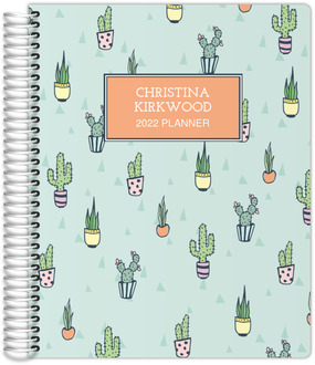 Cactus Pattern Daily Planner