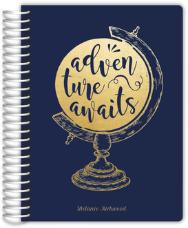 Faux Foil Adventure Globe Teacher Planner