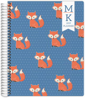 Cute Fox Weekly Planner 8.5x11