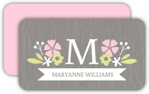 Country Flowers Personal Business Card