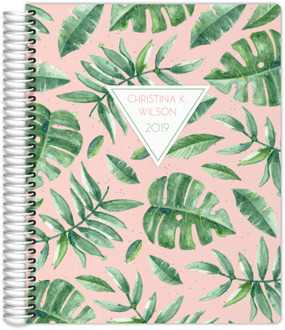 Delicate Watercolor Greens Weekly Planner 8.5x11
