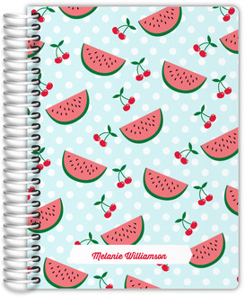 Watermelon and Cherry Pattern Planner 6x8