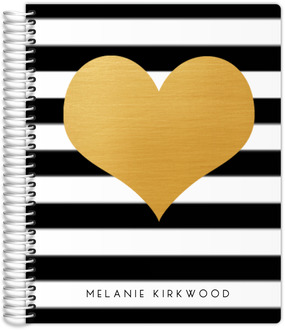 Modern Love Faux Foil Heart Mom Planner 8.5x11