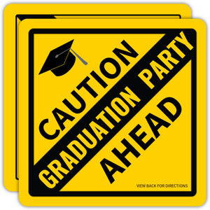 Caution Graduation Party Ahead Invitation