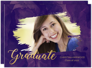 Purple Watercolor Cut Out Graduation Save The Date