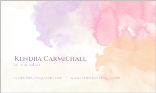 elegant watercolor business card business cards