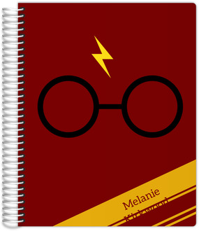 Red & Yellow Stripes Wizard Student Planner 8.5x11