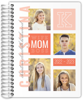 Modern Color Photo Grid Mom Planner 6x8