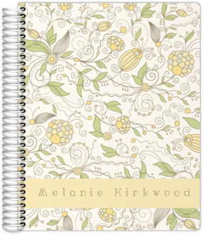 Whimsical Yellow Floral Mom Planner 8.5x11