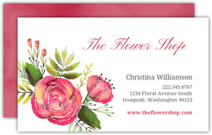 Watercolor Flowers Business Card