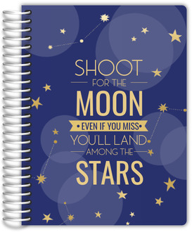 Bokeh And Stars Student Planner 6x8