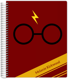 Red & Yellow Stripes Wizard Teacher Planner 8.5x11