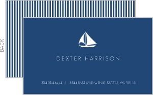 Navy Blue Nautical Business Card