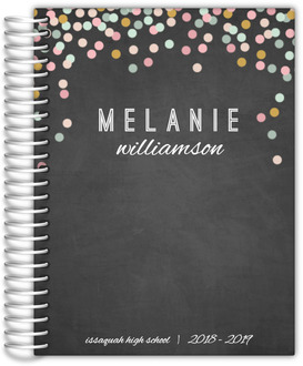 Chalkboard Colorful Confetti Daily Planner 6x8