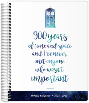 Time  Space Quote Student Planner 85x11