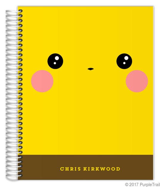 Cute Yellow Pika Custom Daily Planner X Daily Planners - Custom daily planner