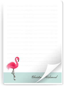 Sweet Pink Flamingo Notepad