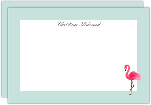 Sweet Pink Flamingo Notecard