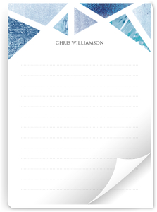 Blue Foil Geometric Notepad