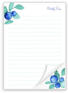 Blueberry Watercolor Notepad