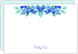 Blueberry Watercolor Notecard